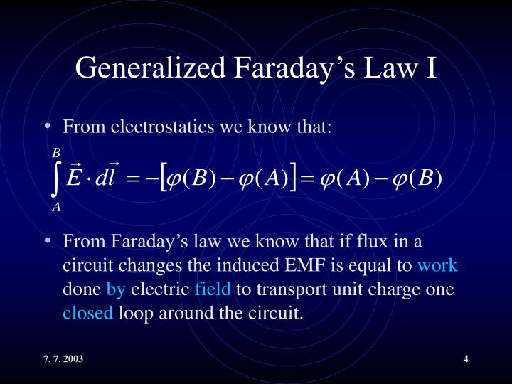 Generalized Faraday