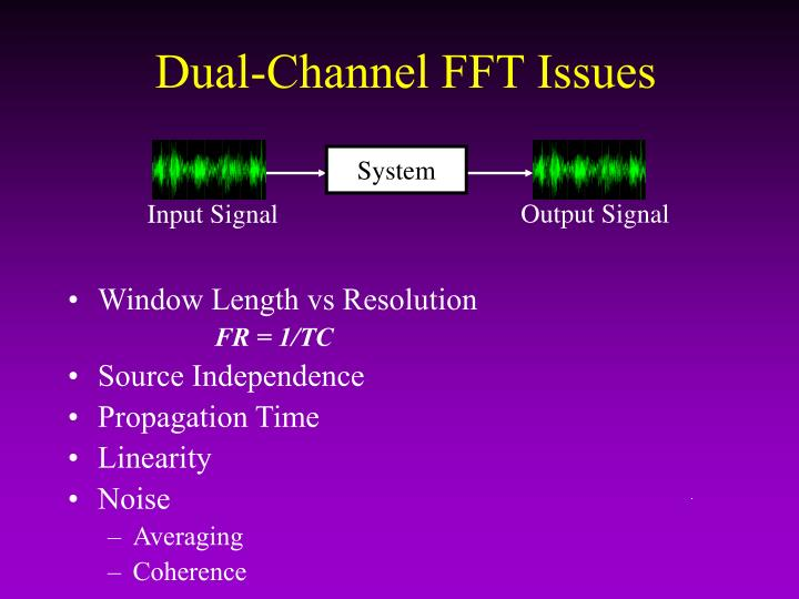 Dual-Channel FFT Issues