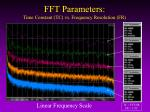fft parameters time constant tc vs frequency resolution fr