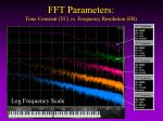 fft parameters time constant tc vs frequency resolution fr1