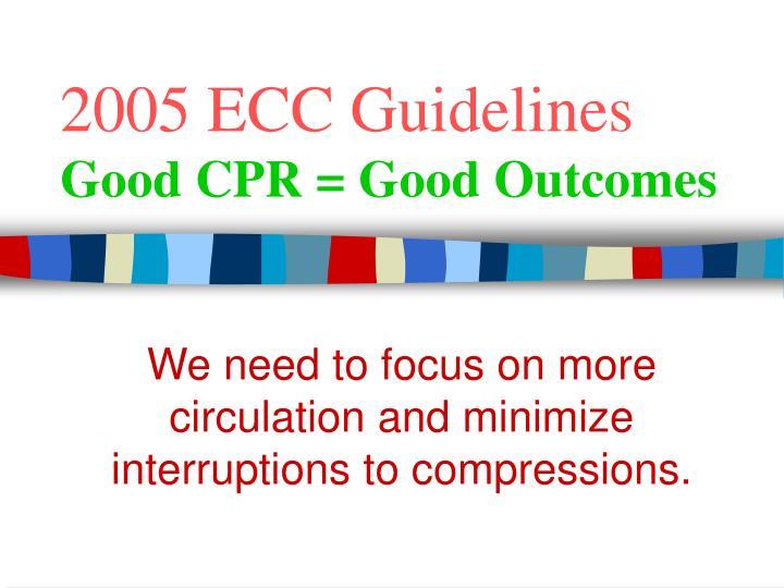 2005 ECC Guidelines