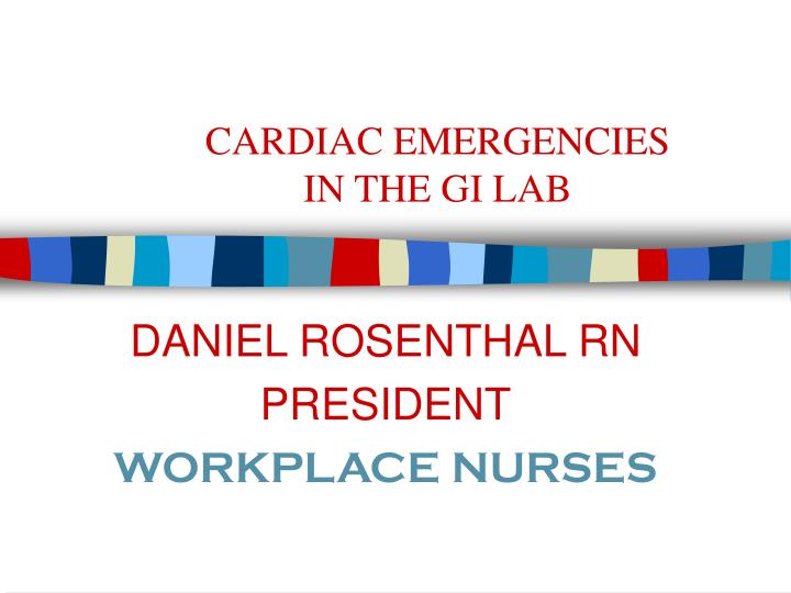 cardiac emergencies in the gi lab