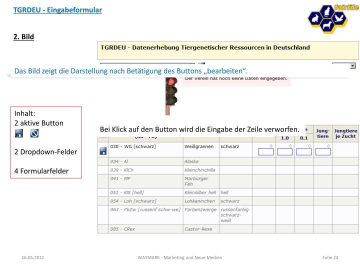 TGRDEU - Eingabeformular