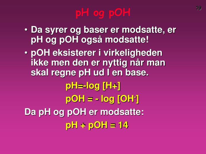 pH og pOH