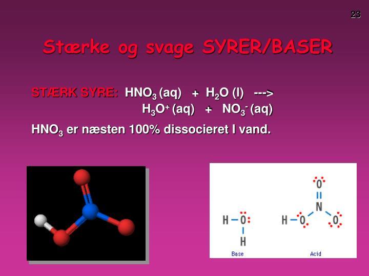 Stærke og svage SYRER/BASER