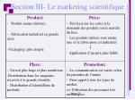 section iii le marketing scientifique