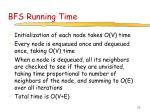 bfs running time