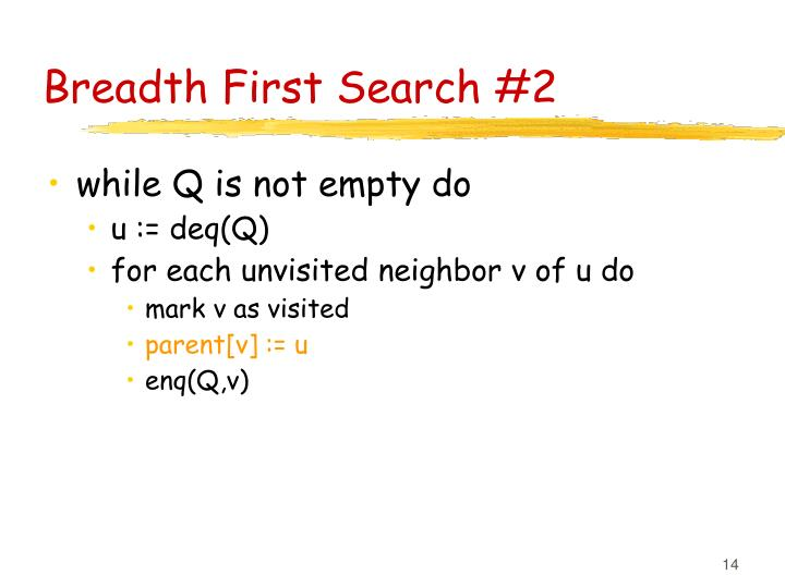Breadth First Search #2