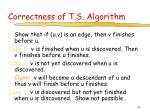 correctness of t s algorithm