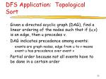dfs application topological sort