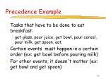 precedence example