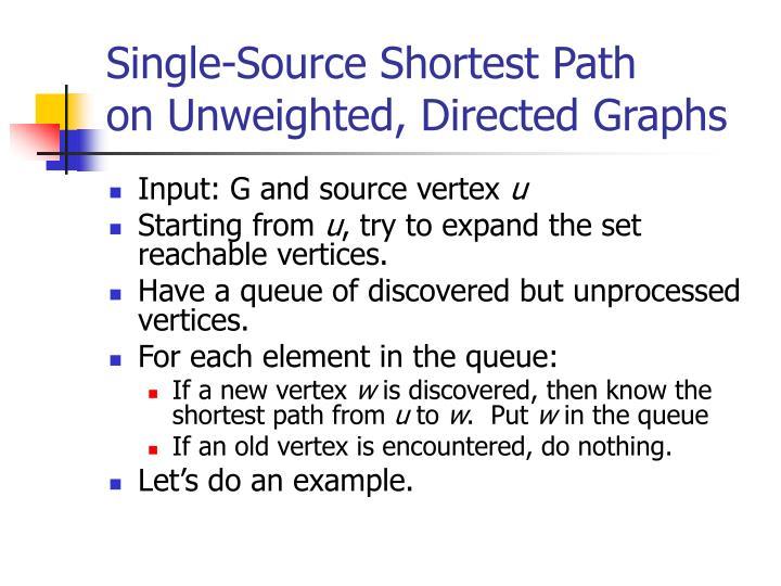 Single-Source Shortest Path