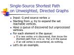 single source shortest path on unweighted directed graphs
