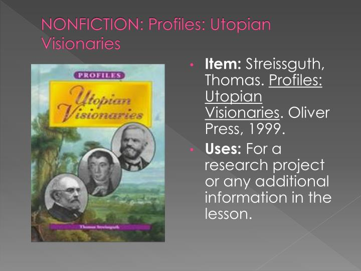 an analysis of the three utopian communities the shakers and brook farm and new harmony Brook farm was created to unite human relationships together to begin with, the utopian community brook farm, was one of the most famous experiments in the us that lasted for five years the brook farm community was created to bring human relationships together.