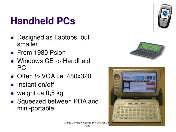 Handheld PCs