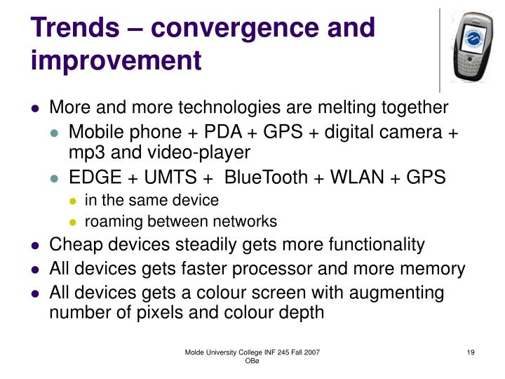 Trends – convergence and improvement