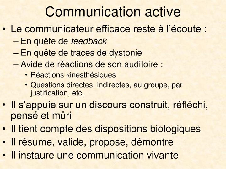 Communication active