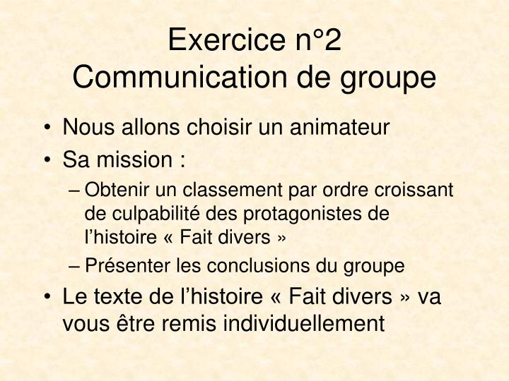 Exercice n°2