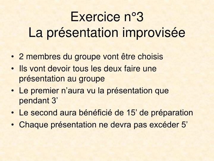 Exercice n°3