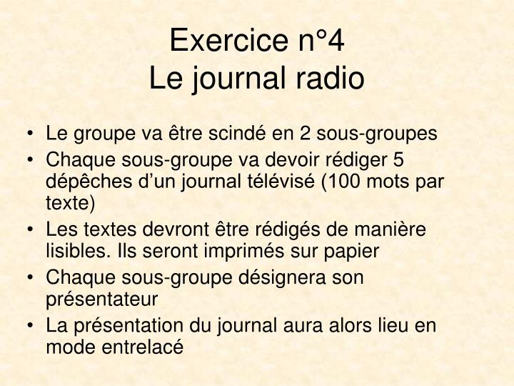 Exercice n°4
