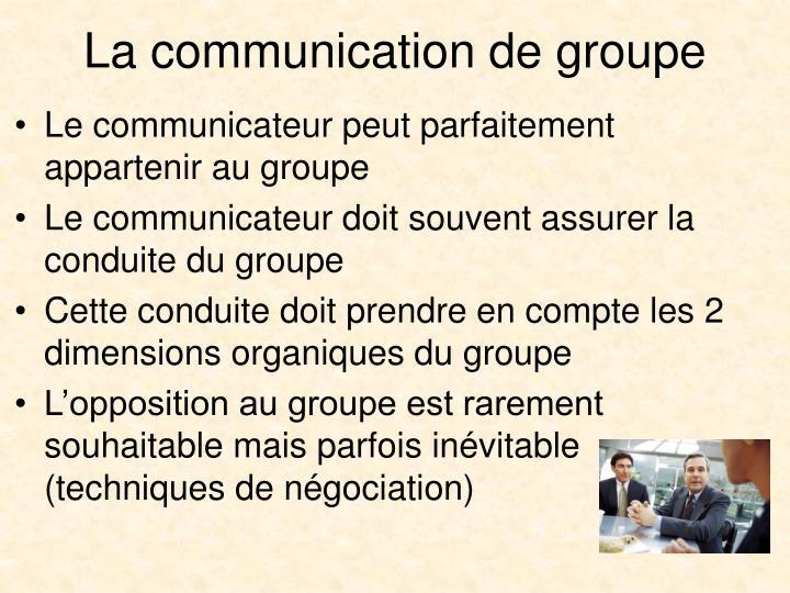 La communication de groupe