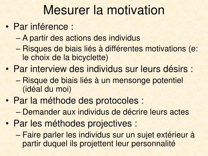 Mesurer la motivation