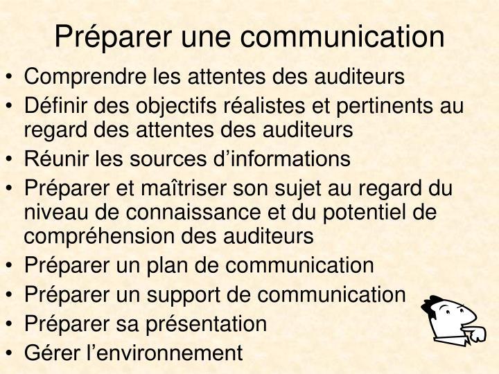 Préparer une communication