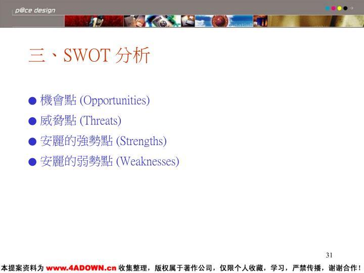 三、SWOT 分析