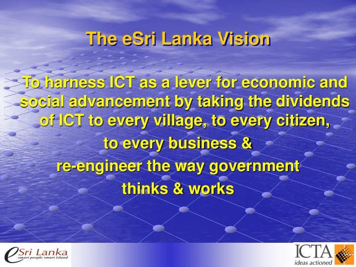 The eSri Lanka Vision