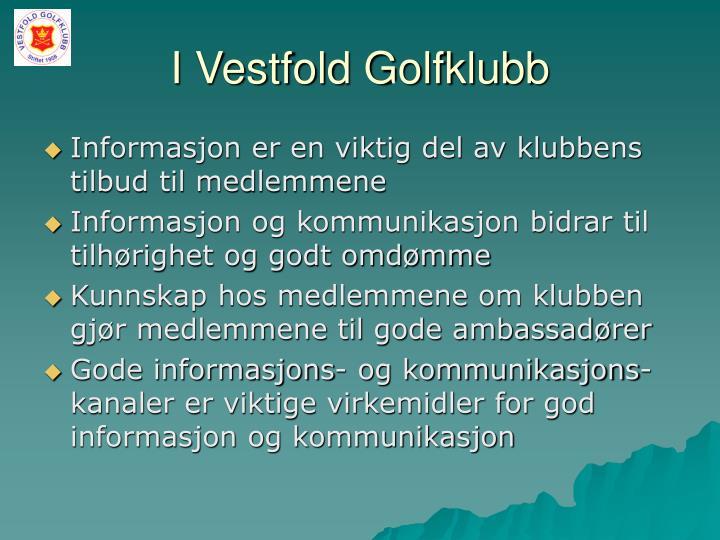 I Vestfold Golfklubb