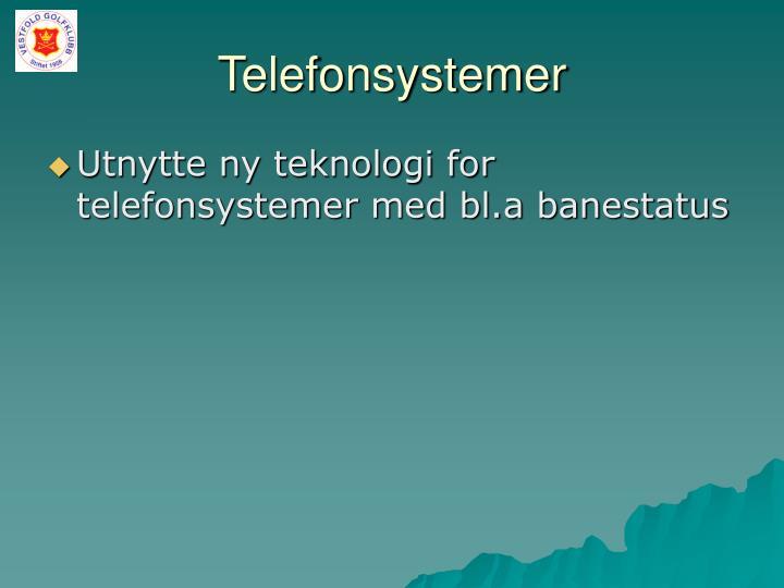 Telefonsystemer