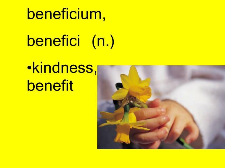 beneficium