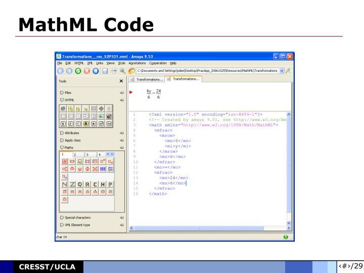 MathML Code