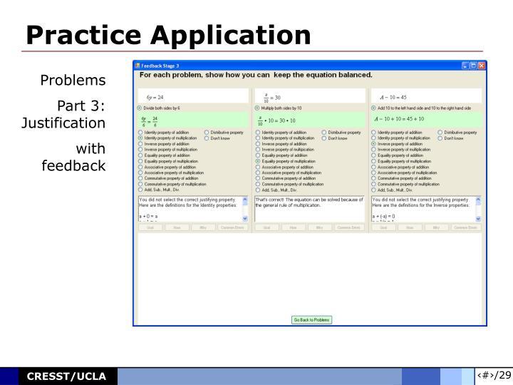 Practice Application