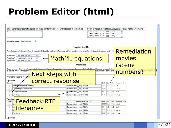 Problem Editor (html)