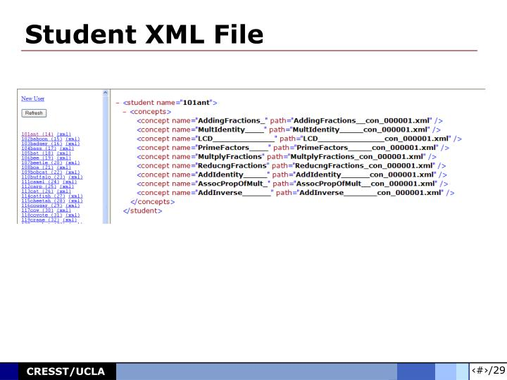 Student XML File