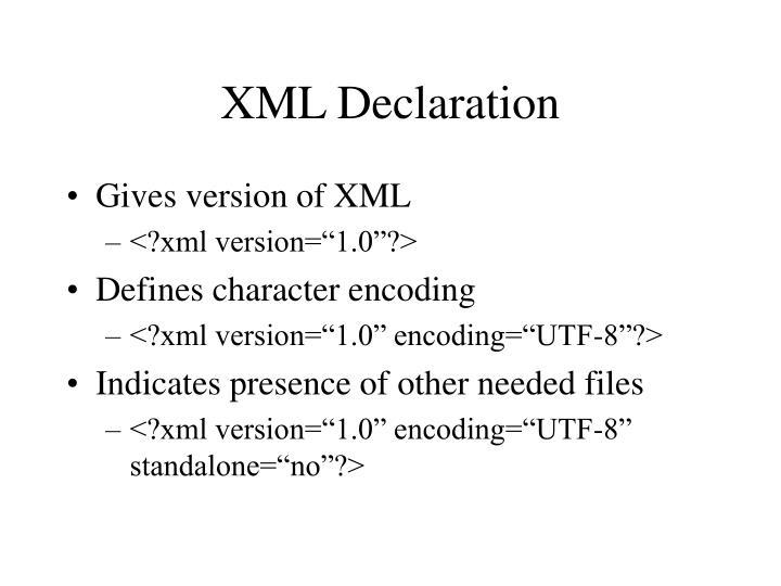 XML Declaration
