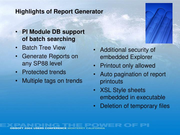 PI Module DB support of batch searching