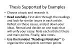 thesis supported by examples1