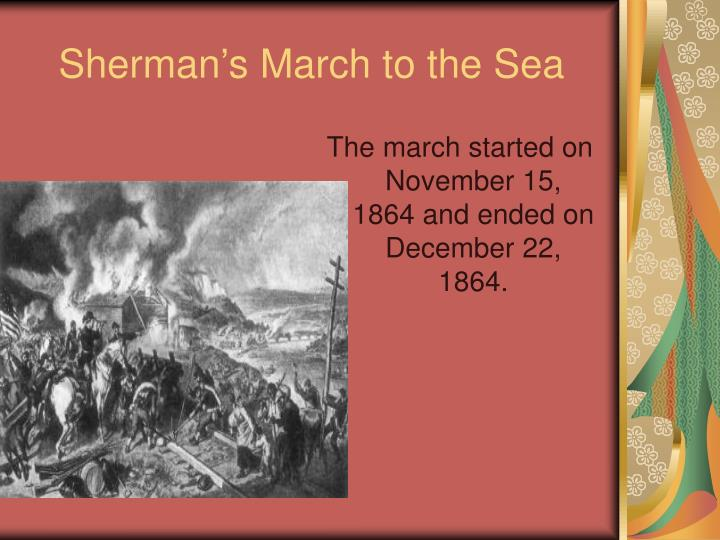 Sherman s march to the sea2