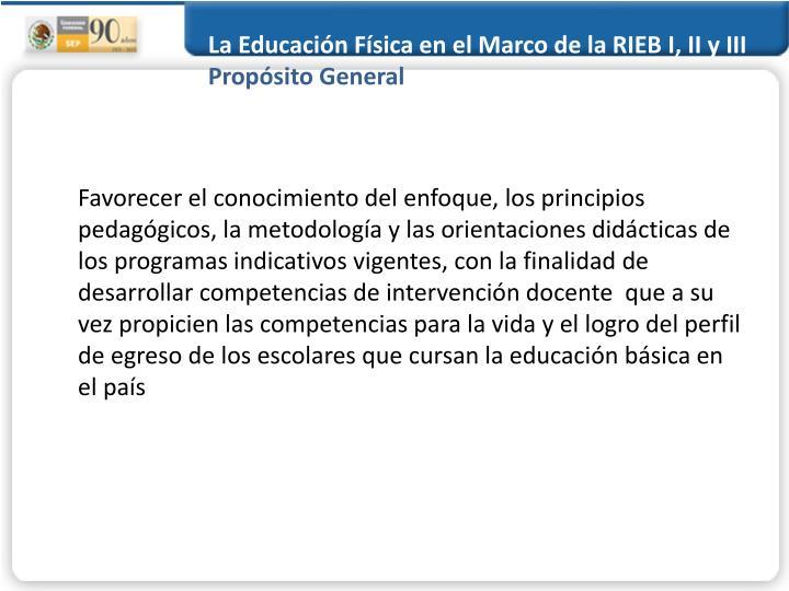 La Educación Física en el Marco de la RIEB I, II y III