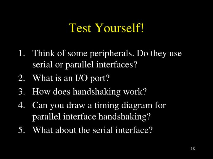 Test Yourself!