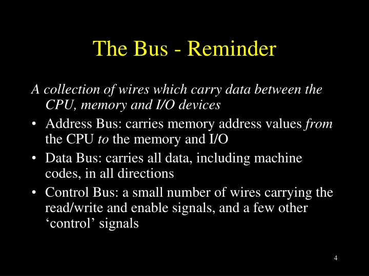 The Bus - Reminder