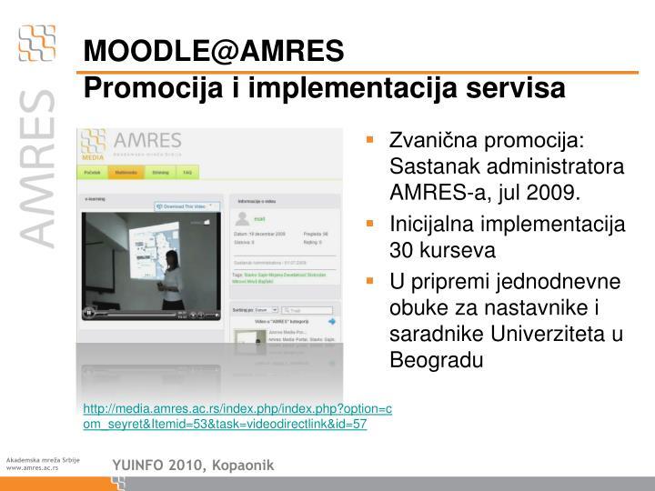 Promocija i implementacija servisa