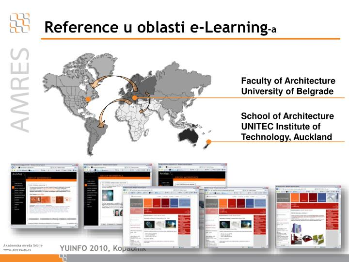 Reference u oblasti e learning a