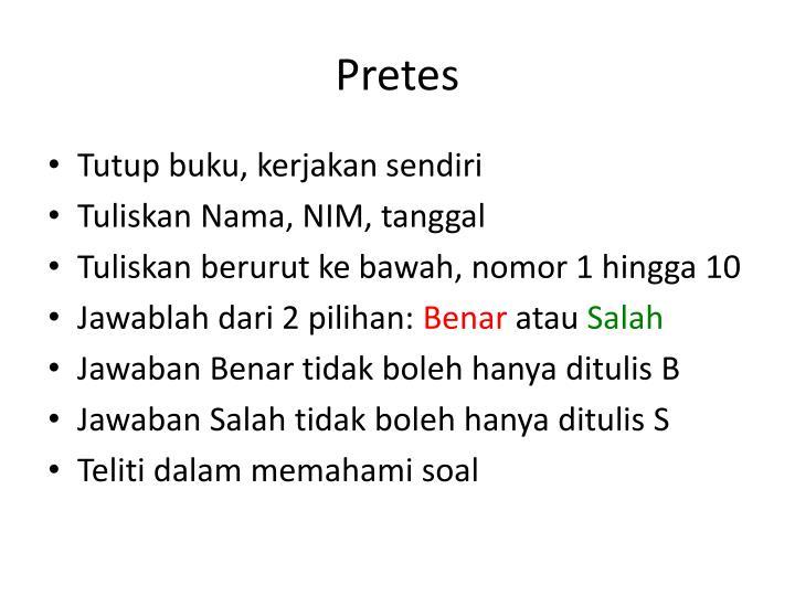 Pretes