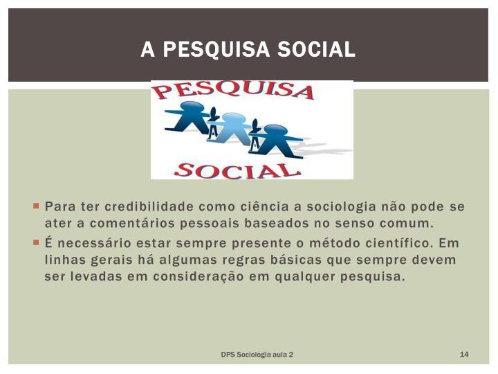 A pesquisa social