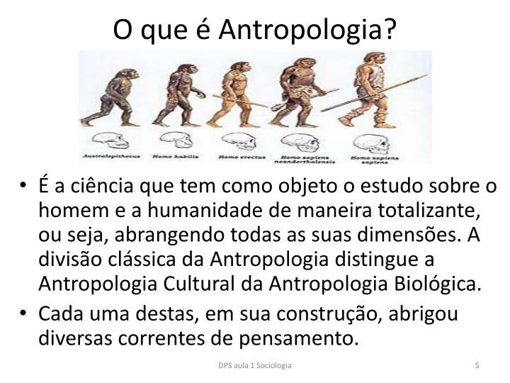 O que é Antropologia?
