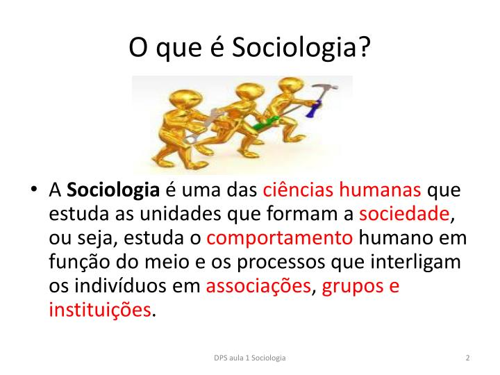 O que  Sociologia?