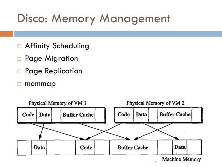Disco: Memory Management
